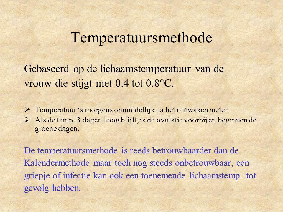 Temperatuursmethode Gebaseerd op de lichaamstemperatuur van de
