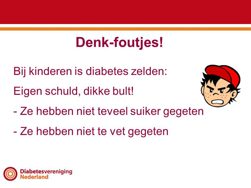 Denk-foutjes! Bij kinderen is diabetes zelden: