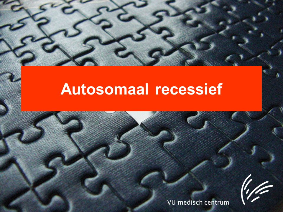 Autosomaal recessief
