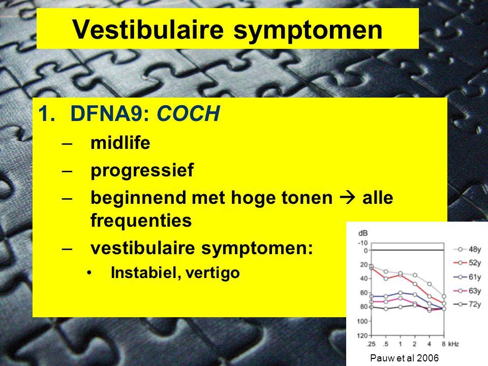 Vestibulaire symptomen