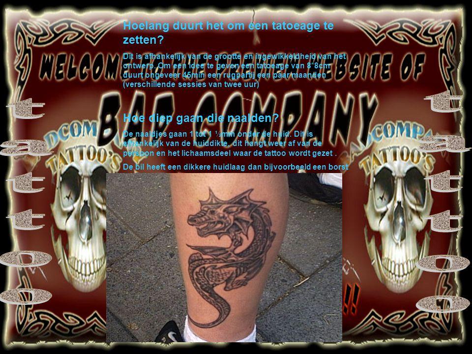 tattoo tattoo Hoelang duurt het om een tatoeage te zetten