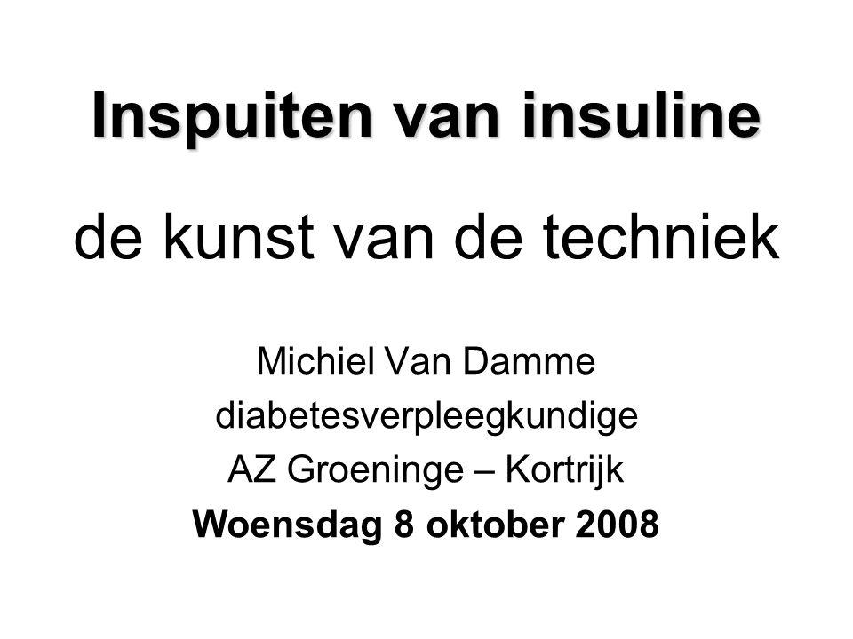 Inspuiten van insuline