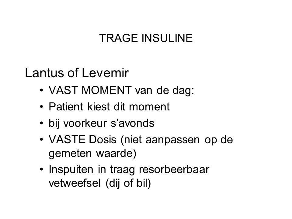 Lantus of Levemir TRAGE INSULINE VAST MOMENT van de dag: