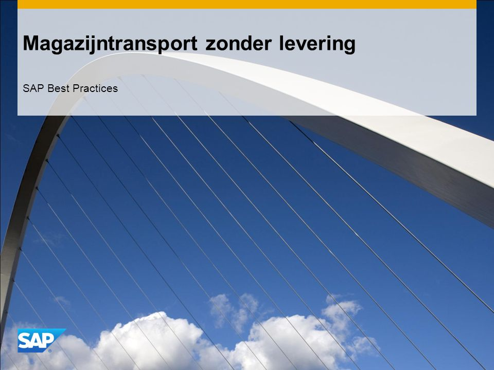 Magazijntransport zonder levering