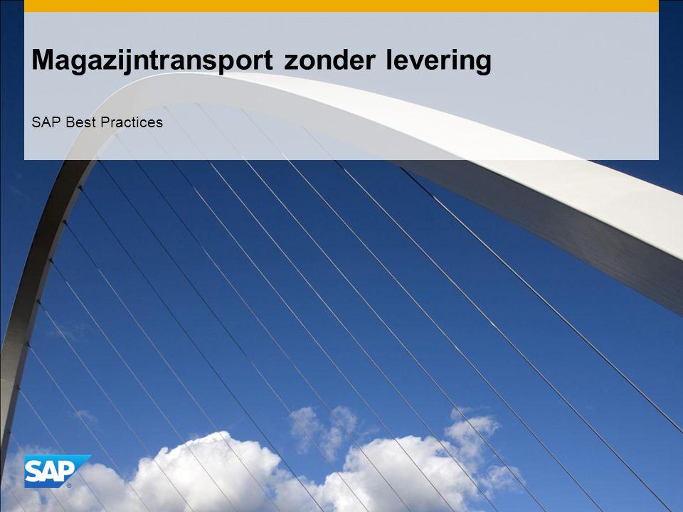 Magazijntransport zonder levering