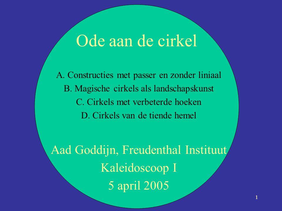Ode aan de cirkel Aad Goddijn, Freudenthal Instituut Kaleidoscoop I