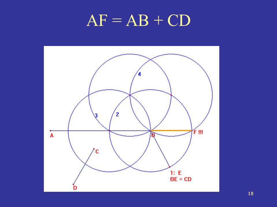AF = AB + CD