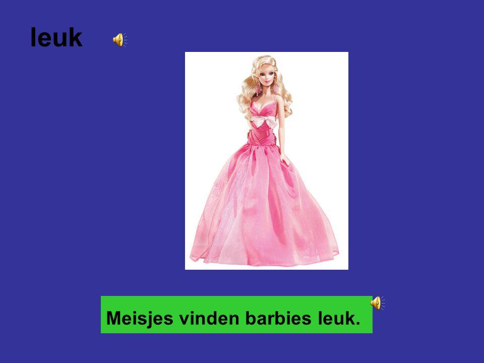 leuk Meisjes vinden barbies leuk.