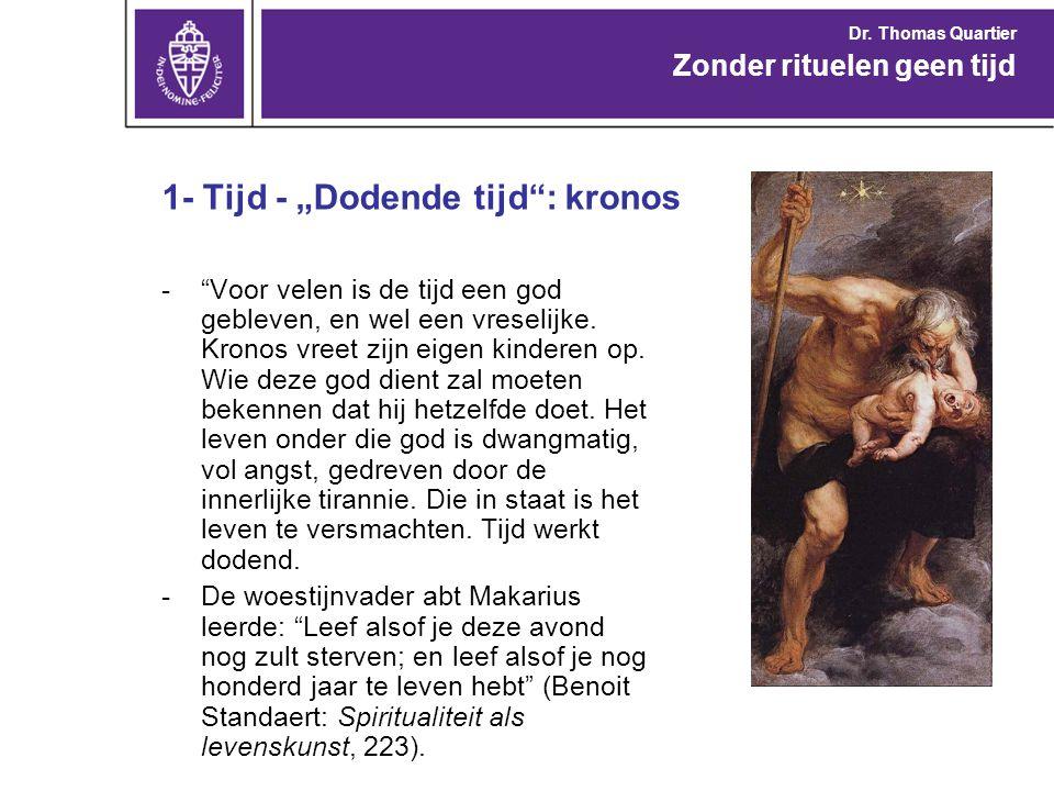 """1- Tijd - """"Dodende tijd : kronos"""