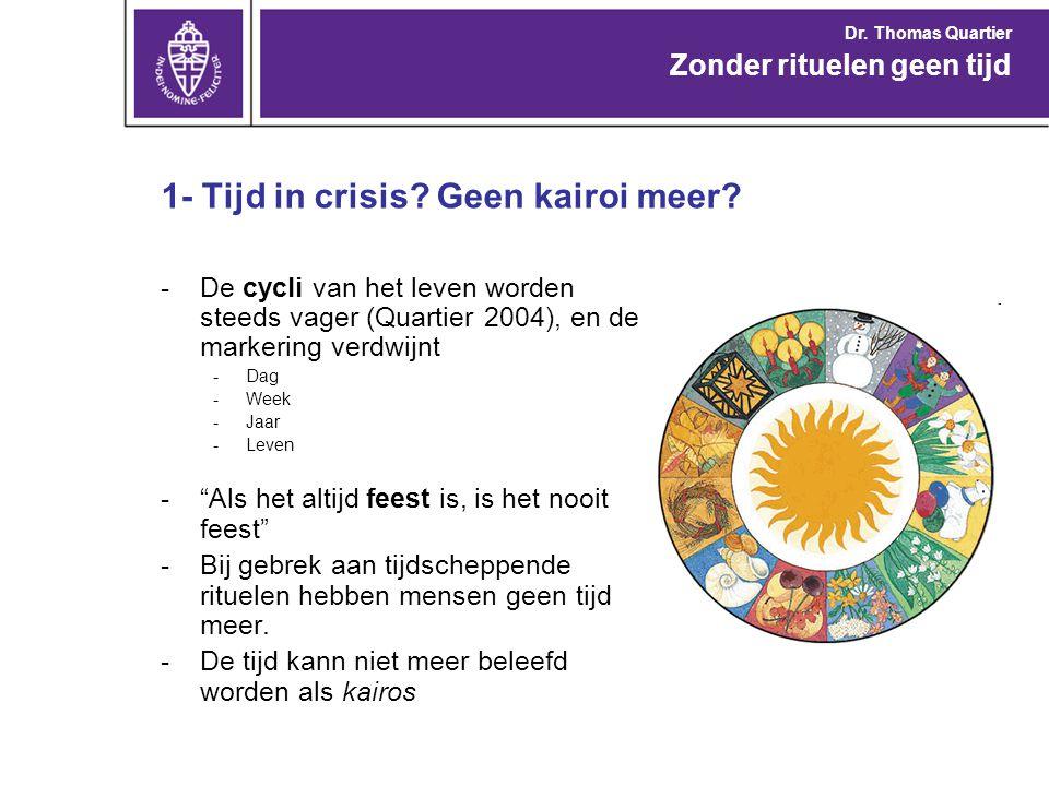 1- Tijd in crisis Geen kairoi meer