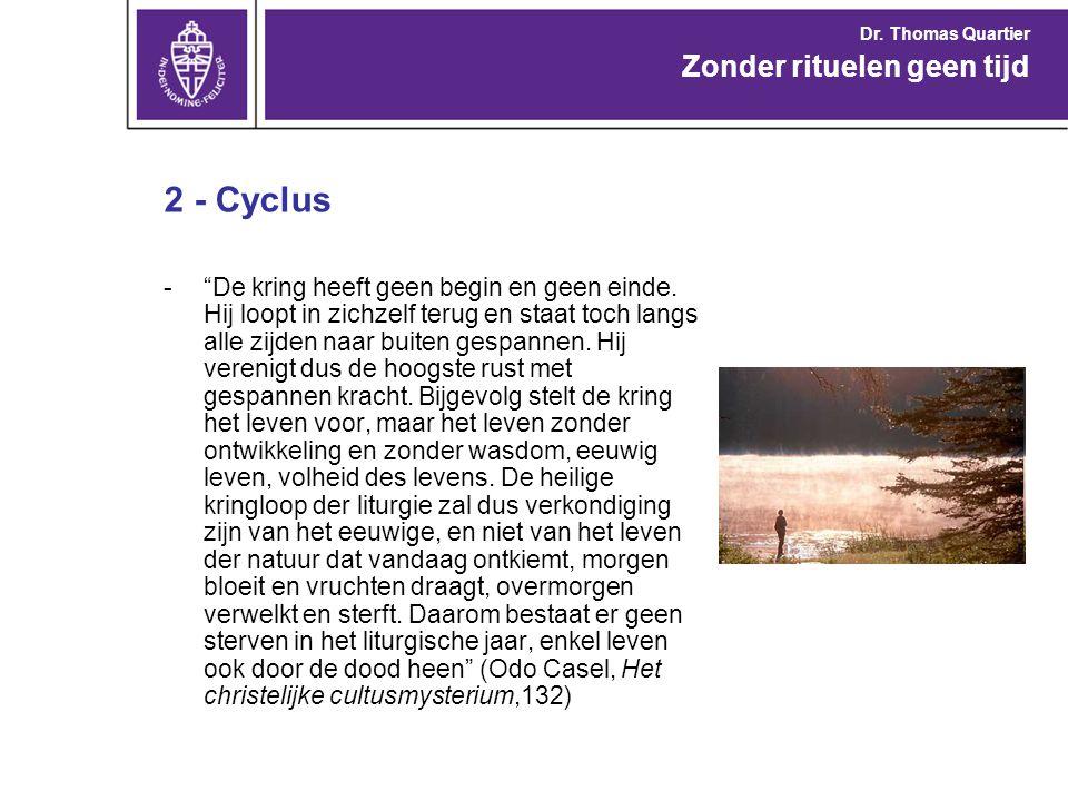 2 - Cyclus Zonder rituelen geen tijd