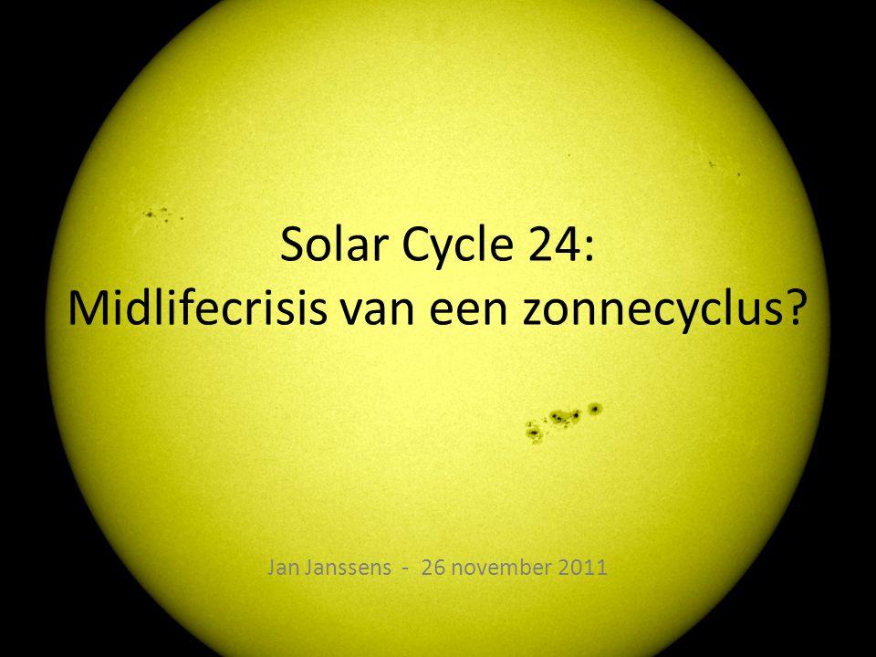 Solar Cycle 24: Midlifecrisis van een zonnecyclus