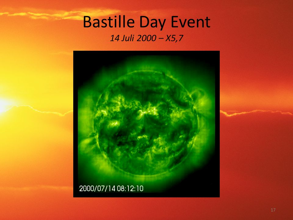 Bastille Day Event 14 Juli 2000 – X5,7