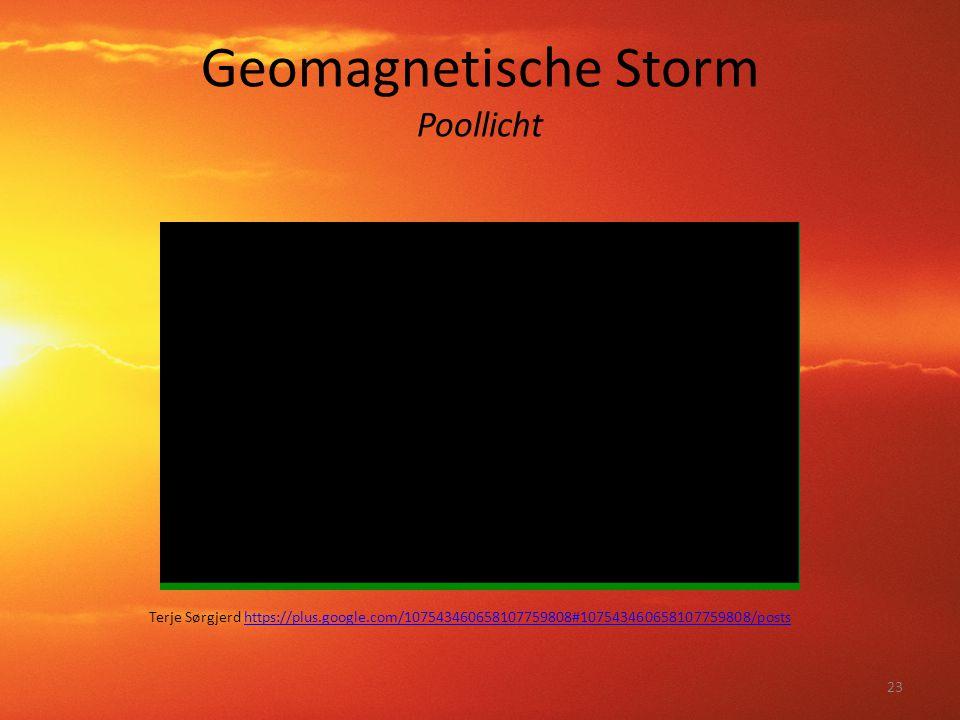 Geomagnetische Storm Poollicht