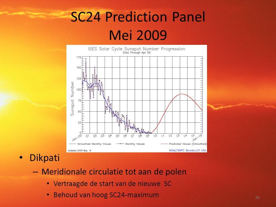 SC24 Prediction Panel Mei 2009
