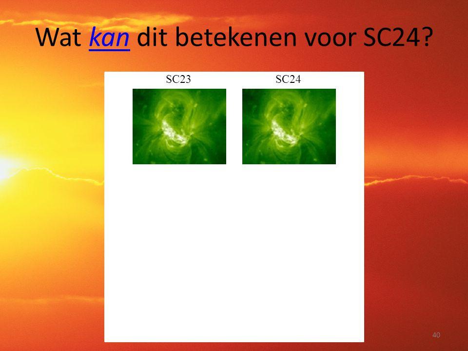 Wat kan dit betekenen voor SC24