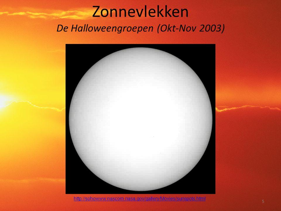 Zonnevlekken De Halloweengroepen (Okt-Nov 2003)