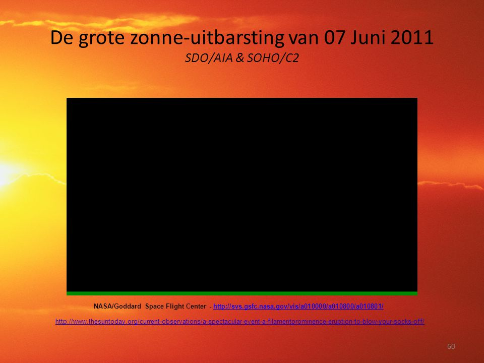 De grote zonne-uitbarsting van 07 Juni 2011 SDO/AIA & SOHO/C2