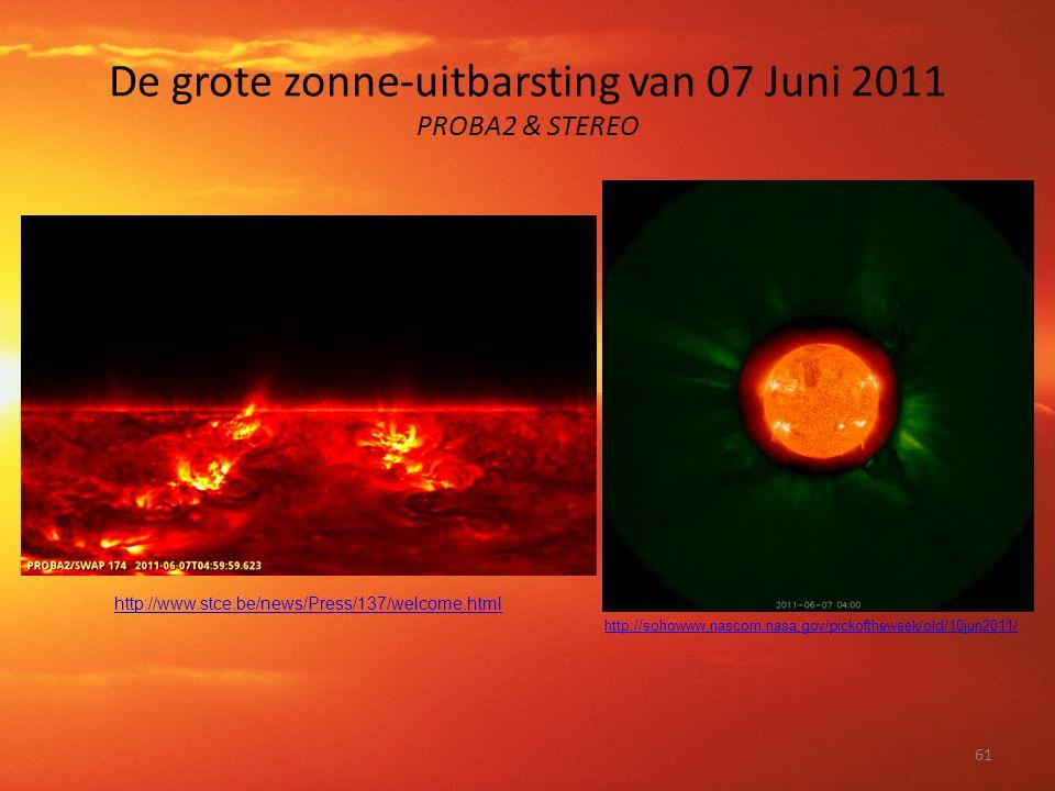 De grote zonne-uitbarsting van 07 Juni 2011 PROBA2 & STEREO