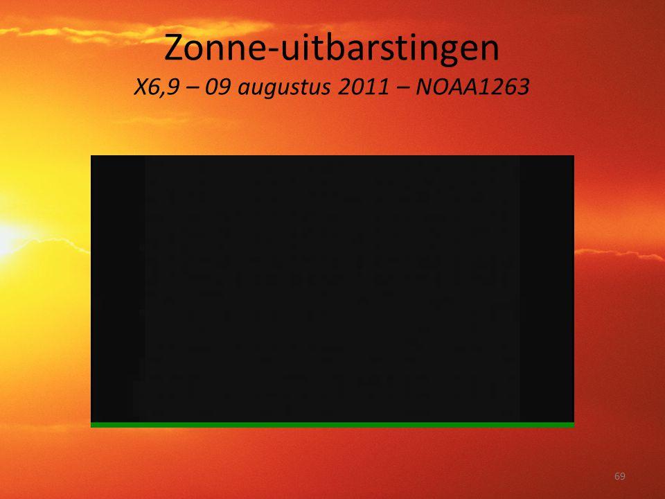 Zonne-uitbarstingen X6,9 – 09 augustus 2011 – NOAA1263