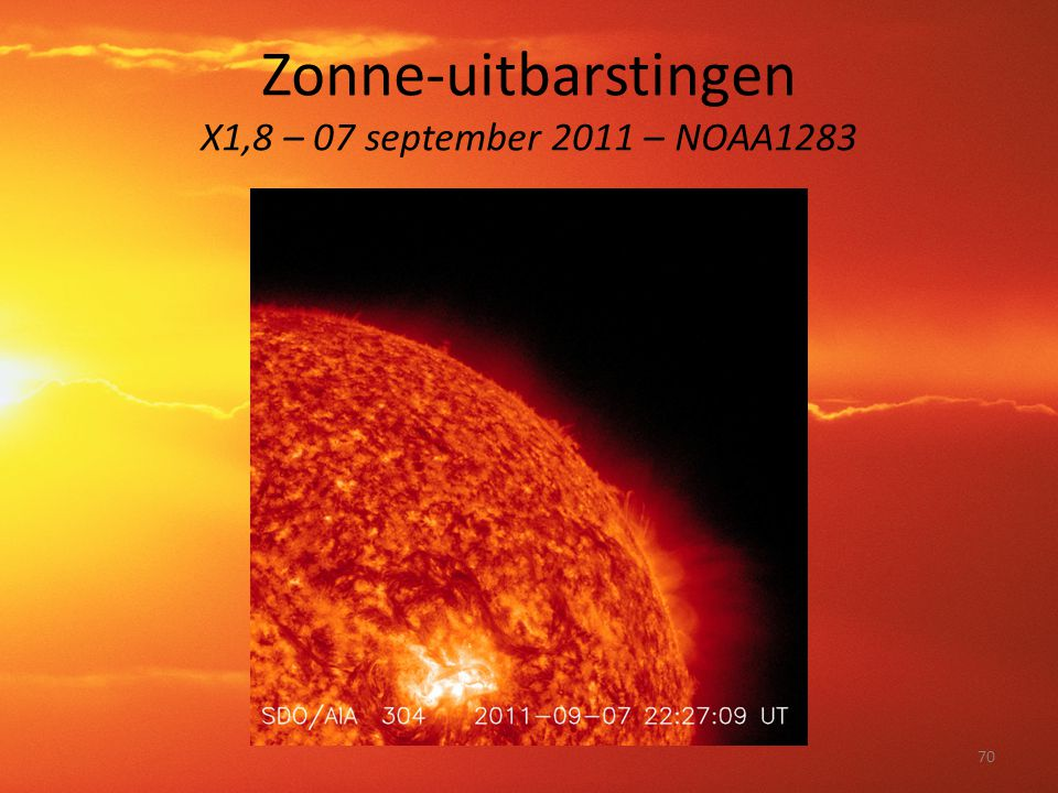 Zonne-uitbarstingen X1,8 – 07 september 2011 – NOAA1283