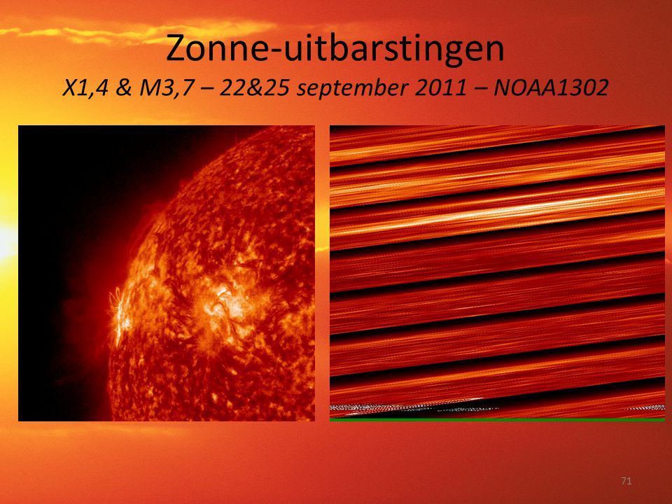 Zonne-uitbarstingen X1,4 & M3,7 – 22&25 september 2011 – NOAA1302