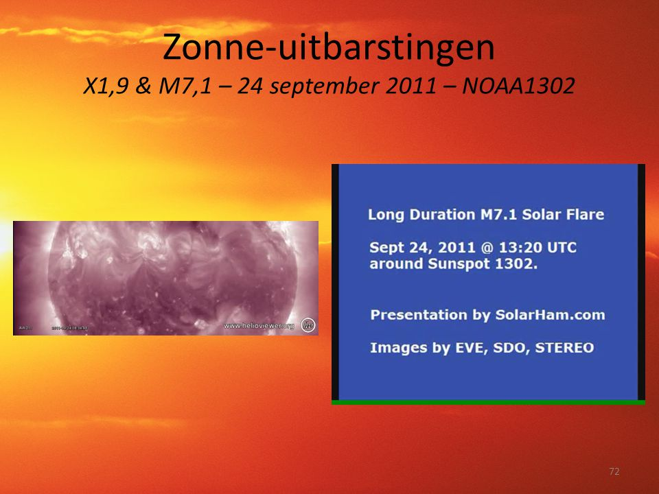 Zonne-uitbarstingen X1,9 & M7,1 – 24 september 2011 – NOAA1302