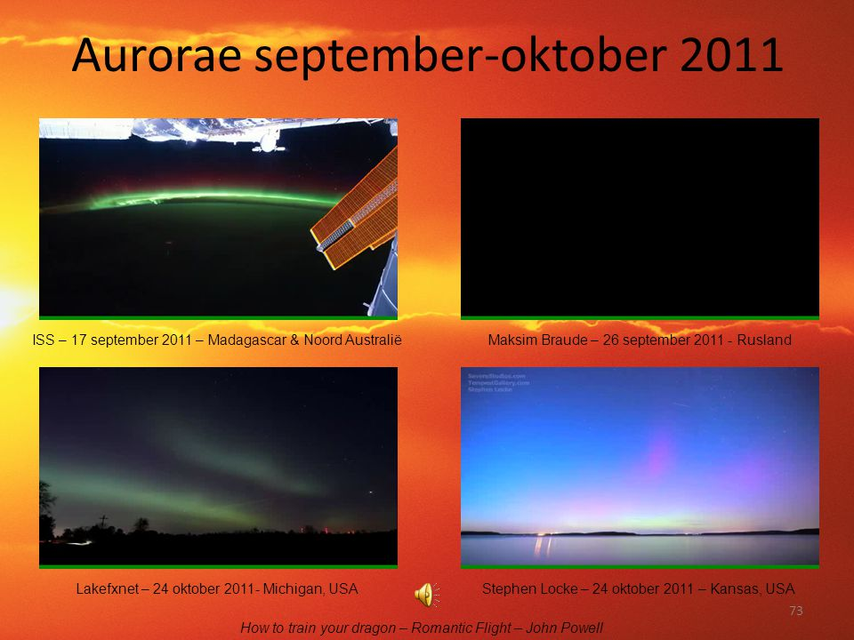 Aurorae september-oktober 2011