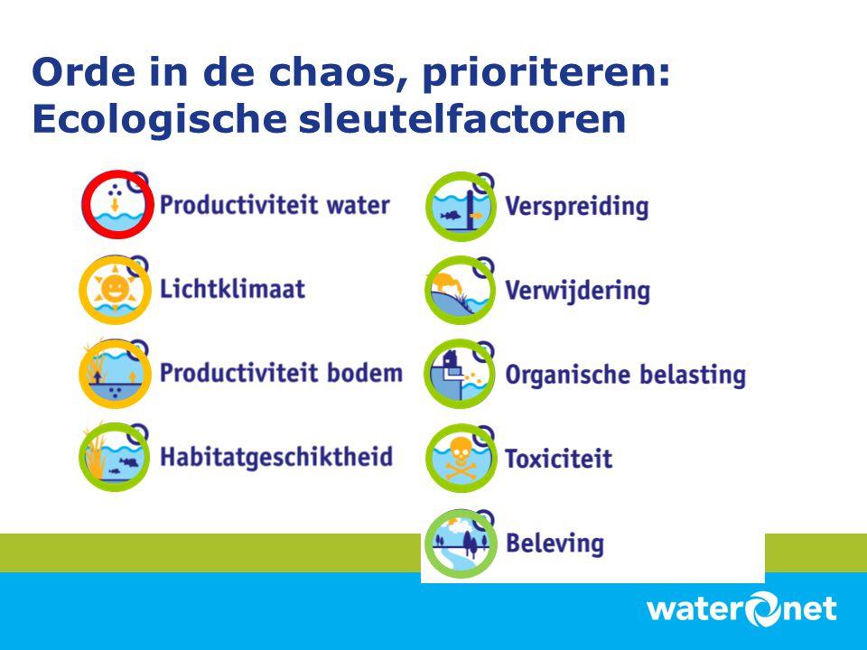 Orde in de chaos, prioriteren: Ecologische sleutelfactoren