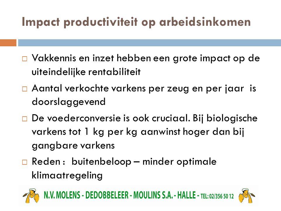 Impact productiviteit op arbeidsinkomen