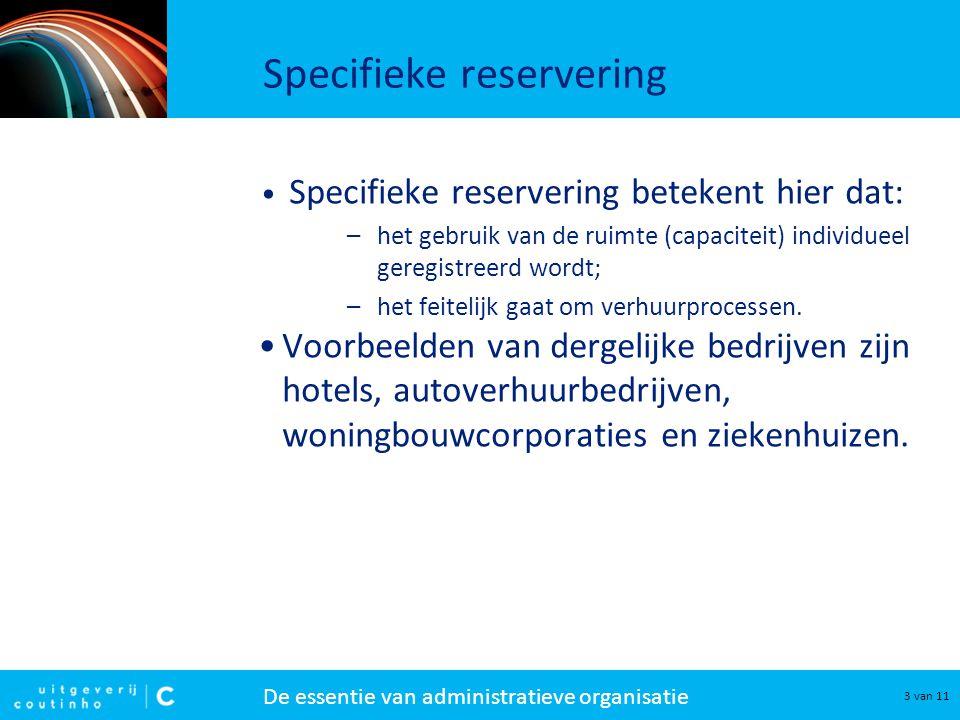 Specifieke reservering