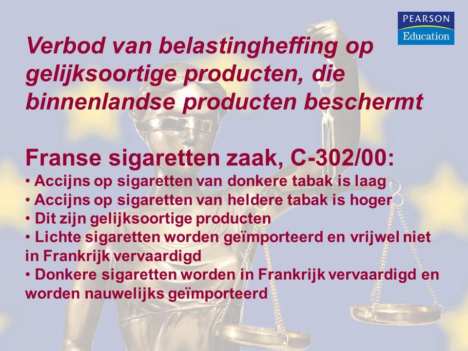 Franse sigaretten zaak, C-302/00: