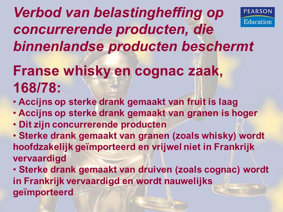 Franse whisky en cognac zaak, 168/78: