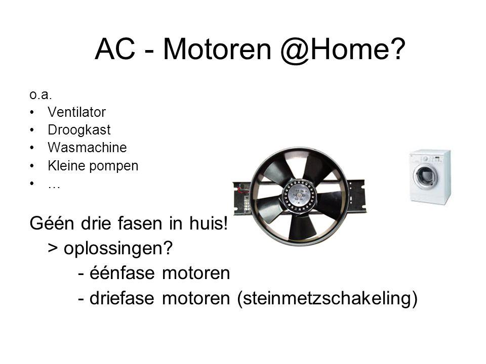 AC - Motoren @Home Géén drie fasen in huis!!! > oplossingen