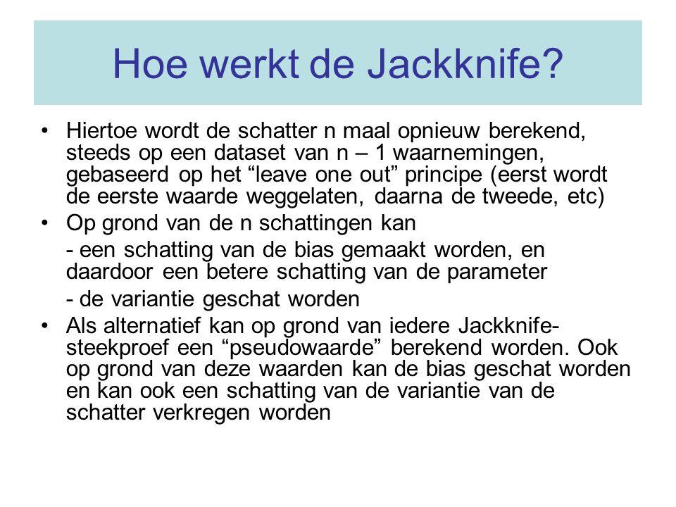 Hoe werkt de Jackknife