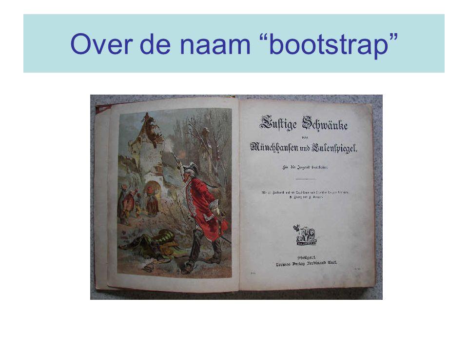 Over de naam bootstrap