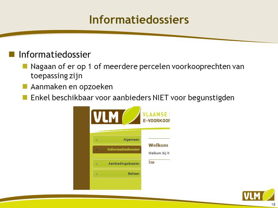 Informatiedossiers Informatiedossier