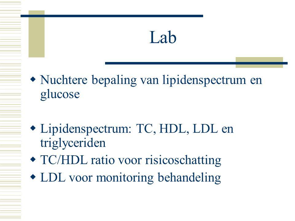 Lab Nuchtere bepaling van lipidenspectrum en glucose