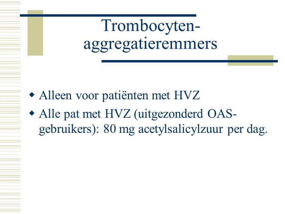 Trombocyten- aggregatieremmers