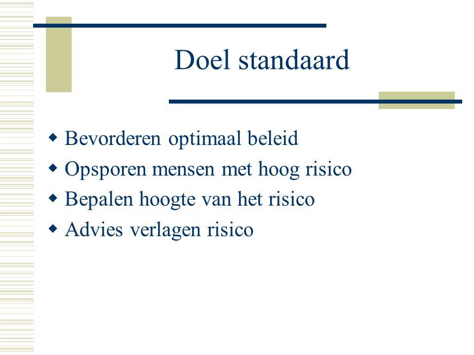 Doel standaard Bevorderen optimaal beleid