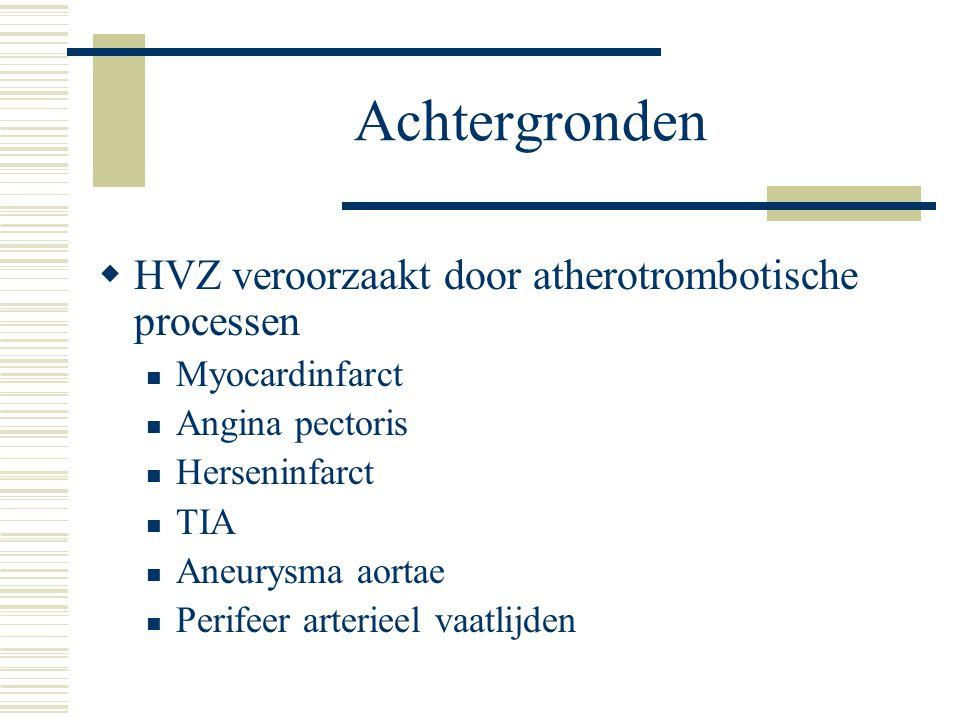 Achtergronden HVZ veroorzaakt door atherotrombotische processen