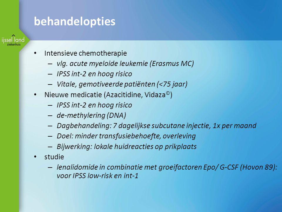 behandelopties Intensieve chemotherapie