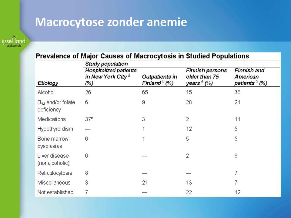 Macrocytose zonder anemie