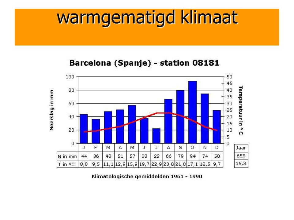 warmgematigd klimaat