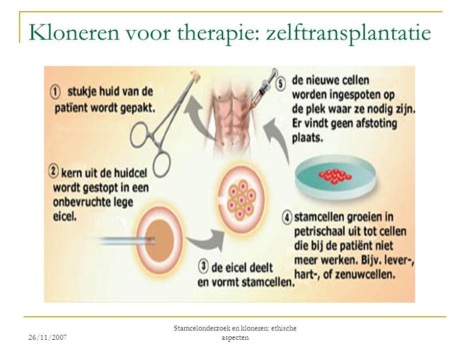 Kloneren voor therapie: zelftransplantatie