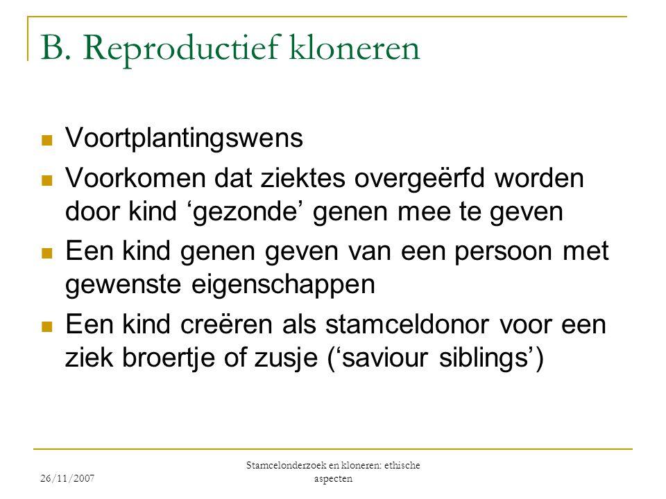 B. Reproductief kloneren