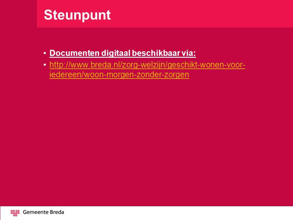 Steunpunt Documenten digitaal beschikbaar via: