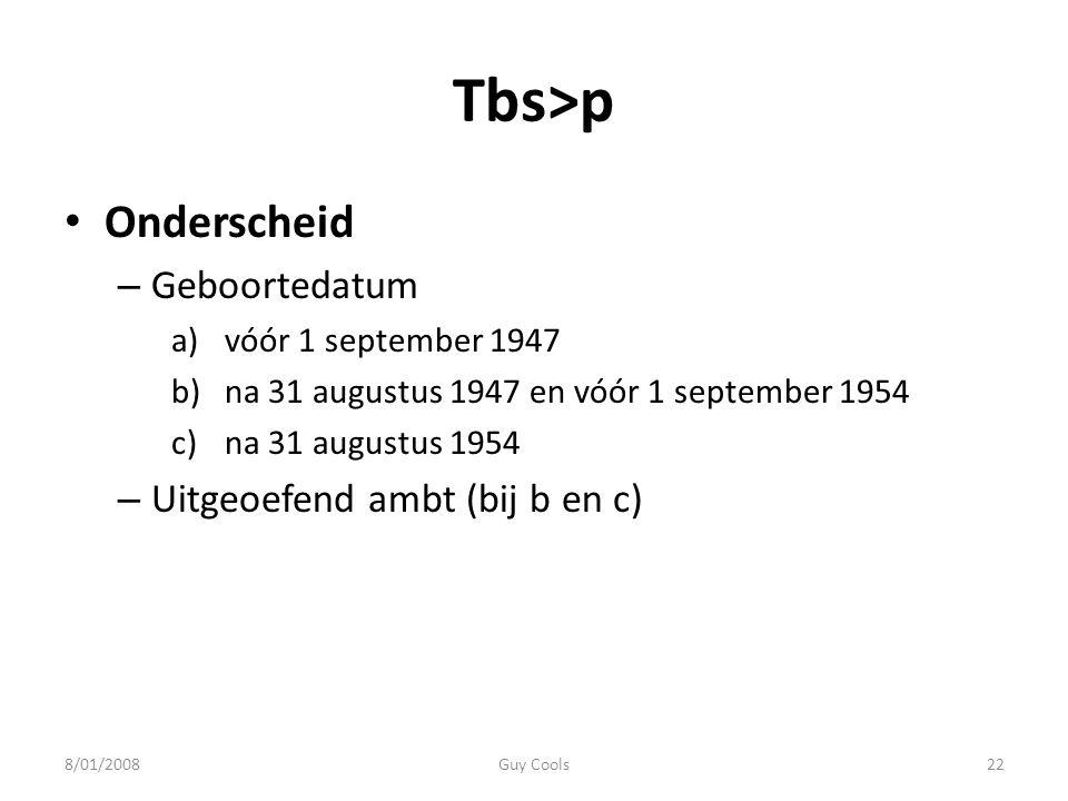 Tbs>p Onderscheid Geboortedatum Uitgeoefend ambt (bij b en c)