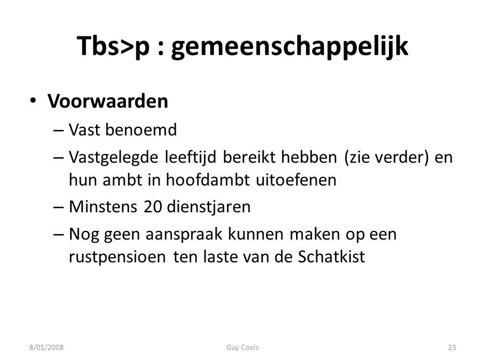 Tbs>p : gemeenschappelijk