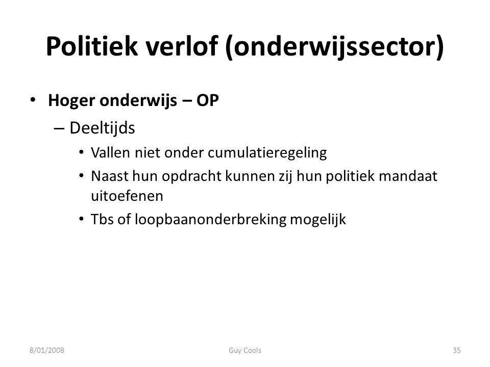 Politiek verlof (onderwijssector)